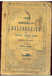 Erdélyi kalendárium 1920 - Régikönyvek
