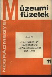 A salgótarjáni szénmedence munkásmozgalmai 1919-1932. - Régikönyvek