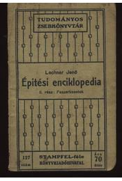 Épitési enciklopédia II-III-IV - Régikönyvek