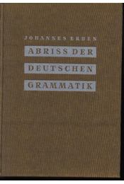 Abriss der deutschen grammatik - Régikönyvek