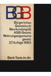 Bürgerliches Gesetzbuch - Régikönyvek