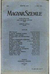 Magyar Szemle 1940. XXXVIII. kötet 1.(149.)szám. - Régikönyvek
