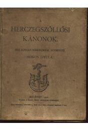 A herczegszöllősi kánonok - Régikönyvek