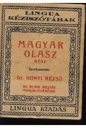 Magyar-olasz kéziszótár - Régikönyvek