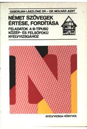 Német szövegek értése, fordítása - Régikönyvek