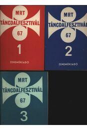 MRT táncdalfesztivál 67 I-II-III kötet - Régikönyvek