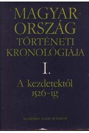 Magyarország történeti kronológiája I.-V. - Régikönyvek