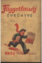Függetlenség évkönyve 1935 - Régikönyvek