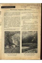 Hidrobiológiai vizsgálatok a Hámori-tavon - Régikönyvek