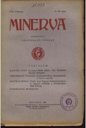 Minerva 1929 VIII.évfolyam 8-10.szám - Régikönyvek