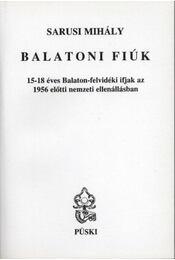 Balatoni fiúk - Régikönyvek