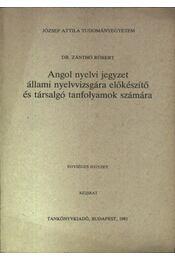 Angol nyelvi jegyzet állami nyelvvizsgára előkészítő tanfolyamok számára - Régikönyvek