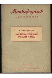 Forgácsolószerszámok precíziós öntése - Régikönyvek