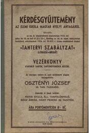 Kérdésgyűjtemény az elemi iskola magyar nyelvi anyagából - Régikönyvek