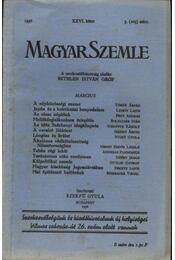 Magyar Szemle 1936. XXVI. kötet 3. (103) szám. - Régikönyvek