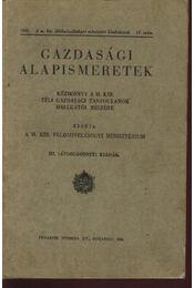Gazdasági alapismeretek - Régikönyvek