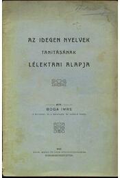 Az idegen nyelvek tanításának lélektani alapja - Régikönyvek