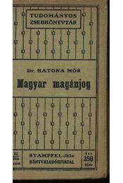 Magyar magánjog - Régikönyvek