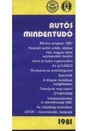 Autós mindentudó 1987 - Régikönyvek