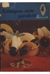 Különlegesen eltett gyümölcsök - Régikönyvek