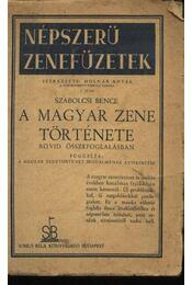 A magyar zene története - Régikönyvek