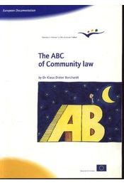 The ABC of Community law - Régikönyvek