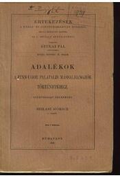 Adalékok a finn-ugor palatalis mássalhangzók történetéhez - Régikönyvek