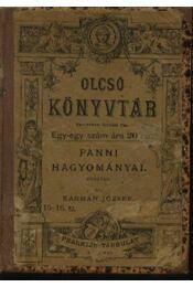 Fanni hagyományai - Régikönyvek