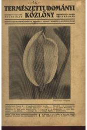 Természettudományi Közlöny 1935 évfolyam - Régikönyvek