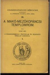 A Makó-Mezőkopáncsi templomrom - Régikönyvek