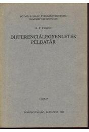 Differenciálegyenletek példatár - Régikönyvek