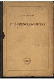 Differenciaszámítás - Régikönyvek