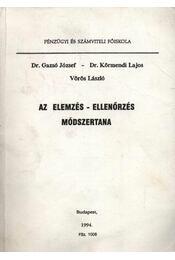 Az elemzés-ellenőrzés módszertana - Régikönyvek