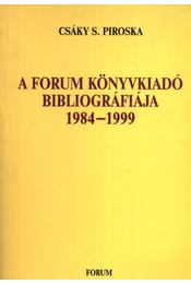 atirni - A Forum Könyvkiadó bibliográfiája 1984-1999 - Régikönyvek