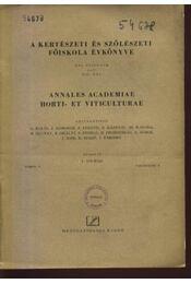 A kertészeti és szőlészeti főiskola évkönyve 1-4. - Régikönyvek