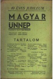 Magyar Ünnep 1936/1. - Régikönyvek