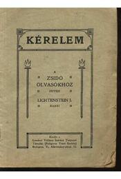 Kérelem a zsidó olvasókhoz - Régikönyvek