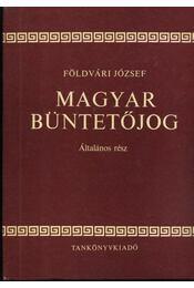 Magyar büntetőjog - Régikönyvek