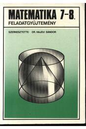 Matematika 7-8. feladatgyűjtemény - Régikönyvek