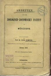Arbeiten aus dem Zoologisch-Zootomischen Institut in Würzburg - Régikönyvek
