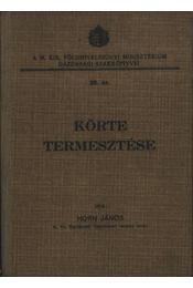 Körte termesztése - Régikönyvek