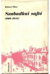 Szabadkai sajtó (1919-1945) - Régikönyvek