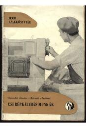 Cserépkályhás munkák - Régikönyvek