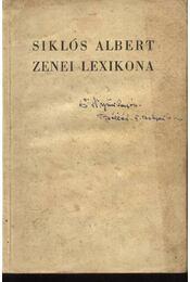Siklós Albert zenei lexikona - Régikönyvek