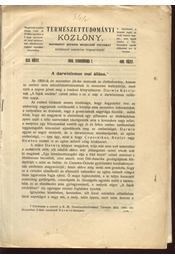 A Darwinizmus mai állása - Régikönyvek