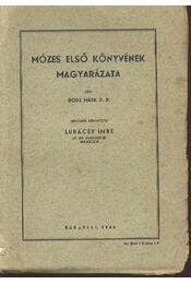 Mózes első könyvének magyarázata - Régikönyvek