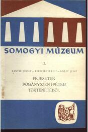 Fejezetek Pogányszentpéter történetéből - Régikönyvek