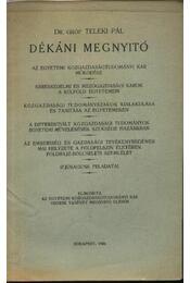Dékáni megnyitó - Régikönyvek