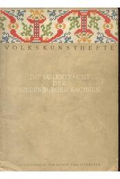 Die Volksracht der Siebenbürger Sachsen - Régikönyvek