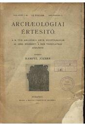 Archaelogogiai értesítő XXIX. kötet 1.-5. szám - Régikönyvek